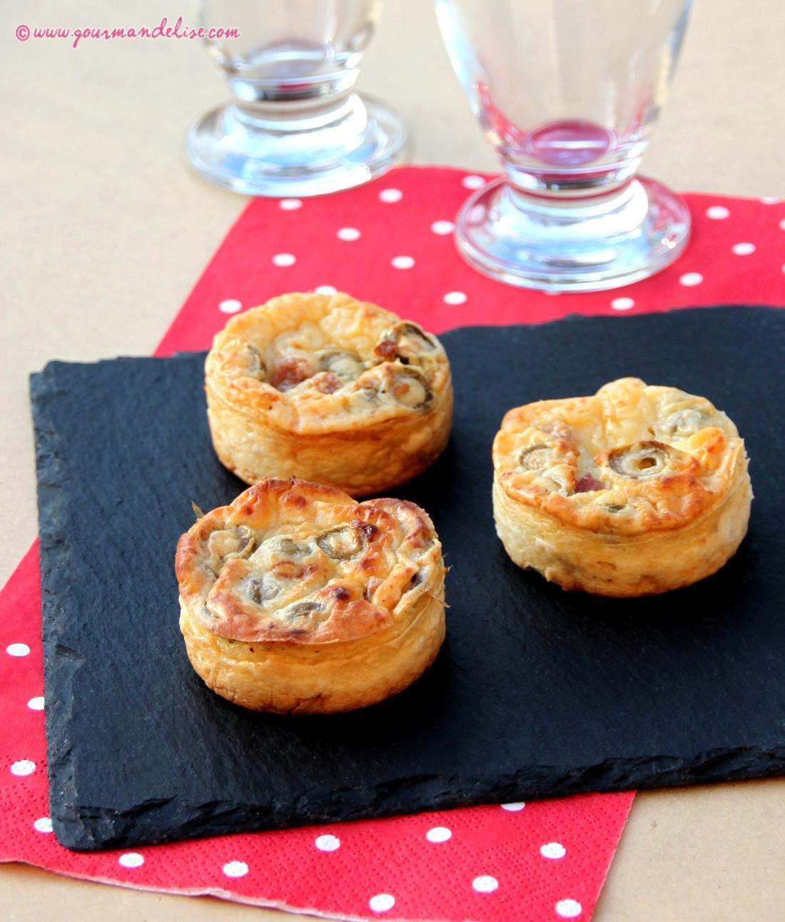 mini quiches sans p 226 te au jambon et olives vertes