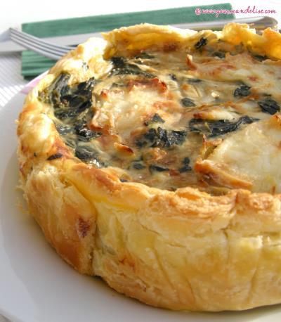 Quiche aux pinards et fromage de ch vre - Recette quiche saumon epinard ...